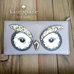 💋NWT Kate Spade Owl Stacy City Scape Wallet